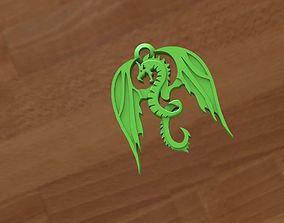 Dragon keychain 3D print model