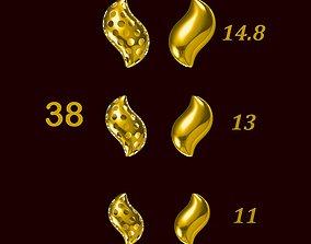 Para ball jewelery gold printable plain studded 38