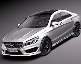 Mercedes-Benz CLA-class AMG 2014 3D model