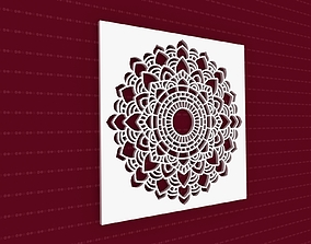 india decoration Mandala 3D