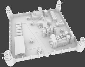 Military base 3D model realtime