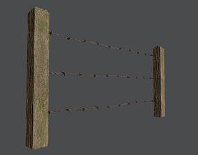 Wood Fence 01 3D asset