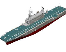 VR / AR ready Tarawa LHA Amphibious Assault Ship 3D Model