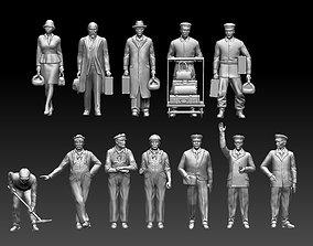 3D print model staff passengers driver