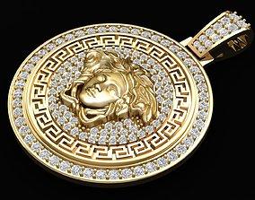 3D print model 278 Luxury Diamond Versace Pendant