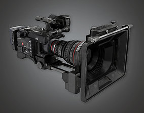 3D asset HLW - HD Production Camera - PBR Game Ready