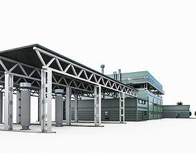 3D model Industrial Building 02