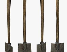3D model low-poly PBR Shovel