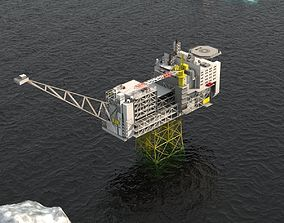 Ivar Aasen Offshore Oil platform 3D model