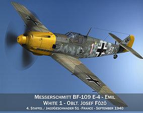3D model Messerschmitt - BF-109 E - White 1
