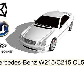 3D asset Mercedes-Benz CL500 Low Poly