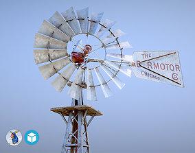 Aermotor WindMill 3D asset animated