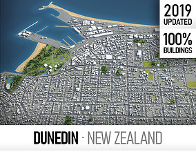 3D asset Dunedin - city and surroundings