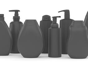 3D Plastic Bottles bath