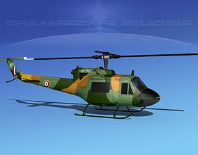 Bell UH-1B Iroquois France 3D animated