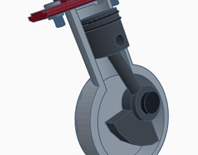 Engine Piston - Mechanical system 3d printed