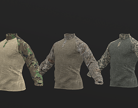 Mens Tactical Military Combat Shirt Long 3D