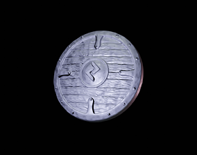 Scandinavian shield with rune Jara 3D printable model