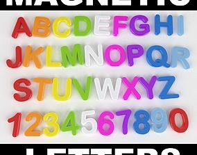 Magnets Alphabet 3D model