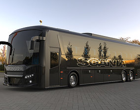 Scania bus tour bus model for CGI and 3D Print