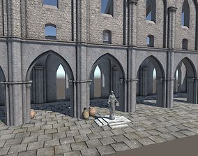 3D asset Modular Cathedral Elements for Unity