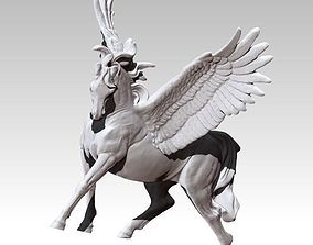 Detailed King Pegasus Flying Winged horse 3D print model 1