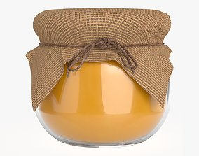 3D Honey jar with fabric small