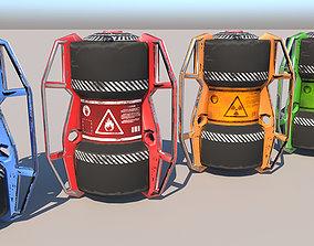 3D asset Sci fi barrels