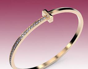 3D printable model Bracelet T Bangle