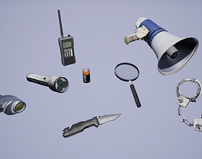 3D asset Police Tool Pack