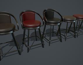 3D asset Slot Machine Chair PBR