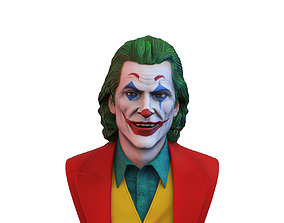 Joker 2019 Joaquin Phoenix bust 3D printable model