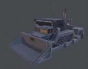 3D model game-ready Dozer Truck