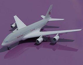 3D Qatar Airways Model