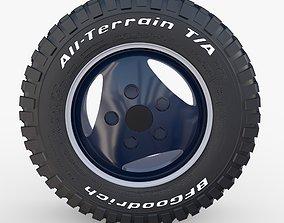 3D Range Rover Classic Wheel BF Goodrich Mud