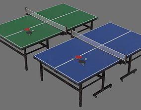 3D asset VR / AR ready Ping Pong Table 2B