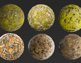 mud 3D model PBR Ground Materials