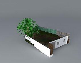 3D Terraced garden design for sloping site