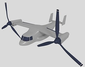 3D model Cartoon Osprey Vtol