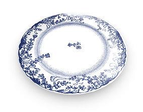 3D model Blue Vintage Dinner Plate