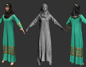 3D model Arabic Dress