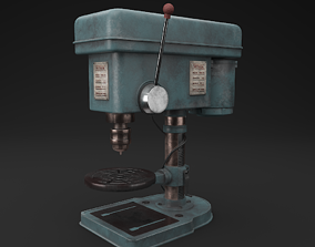 Drill Press 3D asset