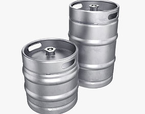 Beer keg set 3D model