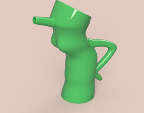 handle watering Can Vase for flowers v01 3d-print and