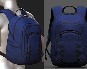realtime Backpack bag baggage Color 3d low poly