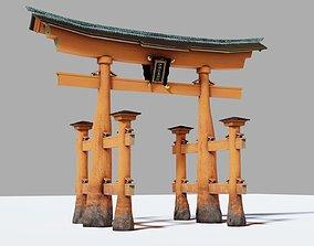 Itsukushima Otorii 3D asset