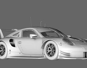 3D model Porsche 911 RSR 2017