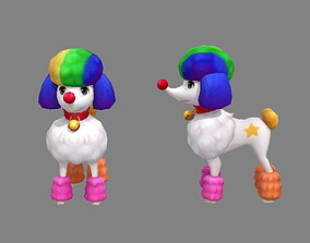 Cartoon puppy - Poodle - baby dog 3D asset