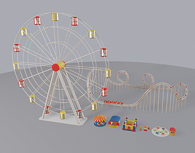3D model game-ready Cartoon Amusement Park