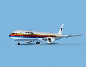 3D model Boeing 767-400 United Airlines 1